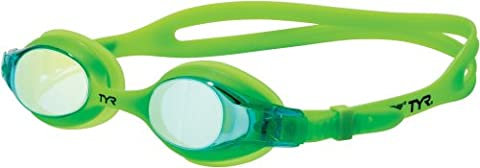TYR Kids Swimple Metallized Swimming Goggles - Electric Lime
