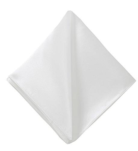 CANTUCCI Weißes Einstecktuch, Einfarbig, 100% reine italienische Seide, Handarbeit, klassisches Kavalierstuch, Taschentuch, Pochette (Italienische Hemden Seide Aus)