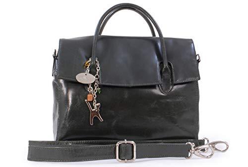 andbags - Leder - Organizer/Handtasche mit Schultergurt - iPad/Tablet - Vintage Leder - Handtasche mit Schultergurt -ELLA - Grün ()