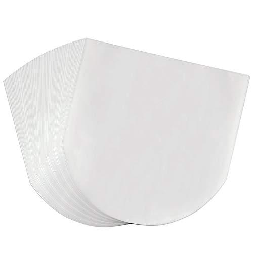 Schallplattenhüllen, 100 Stück, halbtransparent, langlebig, antistatisch, runde Ecken zum Schutz der Sammlung, 30,5 cm Vinyl-Innenhüllen (Vinyl Abdeckungen Für Alben)