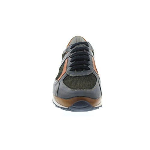 Galizio Torresi Sneaker, Pelle Liscia / Nabuk /, Blu / Marrone, Plantare Sostitutivo 413164a Blu - Marrone