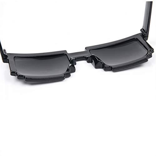 ADGJLI Deal Mit Der Sonnenbrille Männer Thug Life Gläser 8 Bit Pixel Party Sonnenbrille Mosaik Vintage Schwarz Eyewear Uv400 Halloween