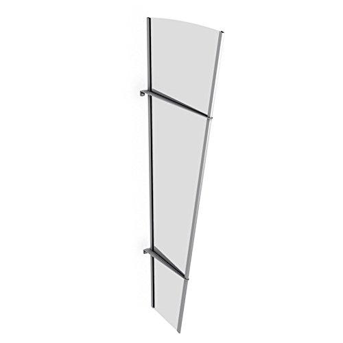 Schulte Seitenelement für Vordach Überdachung  Acrylglas klar Edelstahl matt ,167x62x32 cm