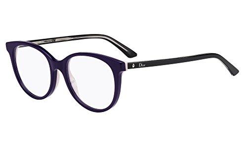 Dior Brillen Für Frau MONTAIGNE16 NHI, Plum / Pink / Black Kunststoffgestell, 53mm