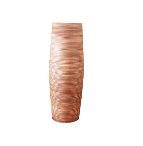 SYHPDT Keramikvase, europäischer Stil, große Vase, modern, kreativ, Wohnzimmer, Zuhause, weißer Ton, Keramik, Vase, Deko, 60 cm, 50 cm