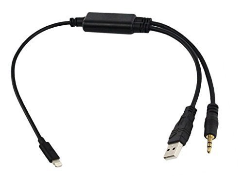 Eidoct 3,5 mm Kfz-Audio-Stereo-USB-Ladeadapterkabel für BMW X1 X3 X5 1 3 5 7 Series Mini für iPhone x 8 7 7 Plus 6 6S Plus iPod & iPad