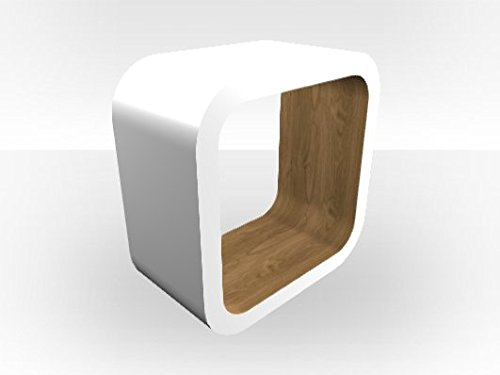 Bianco esterno cubo Media unit Pippy Oak