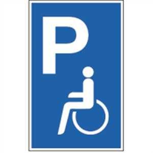 Schild Parkplatz für Behinderte Alu 40 x 25cm (Parkplatzschild) praxisbewährt, wetterfest Der König Auf Dem Parkplatz