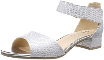 CAPRICE 28212-22 Damen Sandaletten,Sommerschuh,Riemen,elegant,feminin,Leichter Absatz