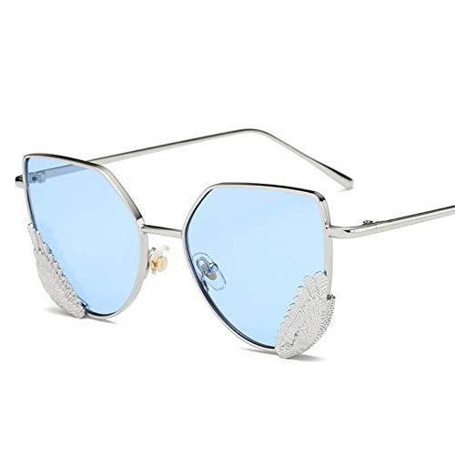 sijiaqi Unisex-Sonnenbrille Cat Eye Angel Wings Elegante Damen Sonnenbrille Männer Brille Oculos De ()