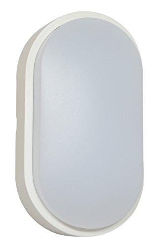 Tibelec 341910 Hublot LED Ovale, Plastique, 10 W, Blanc, 60 x 12 x 212 mm