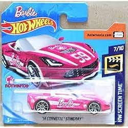 Hot Wheels Corvette Stingray–Cabrio 2014–1: 64–Color: Rosa (HW de Edition Barbie 2017)