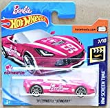 HOT WHEELS Corvette Stingray - Cabrio 2014-1:64 - Colore: rosa (HW-Edition Barbie 2017)