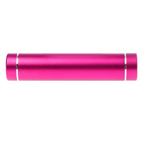 Cansenty 18650 Akku DIY Power Bank Box mit LED Taschenlampe USB Ladegerät für Smartphone rose pink (Pink Box-taschenlampe)