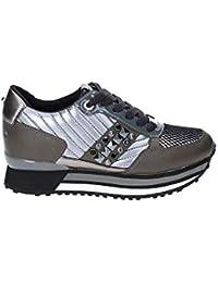Apepazza Sneaker Running MOD. Raya in Pelle Tessuto Bianco Silver Donna  D19AP05 1bd51b6c1cd