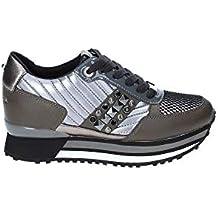 Apepazza Sneaker Running MOD. Raya in Pelle Tessuto Bianco Silver Donna  D19AP05 e97c07c95c3