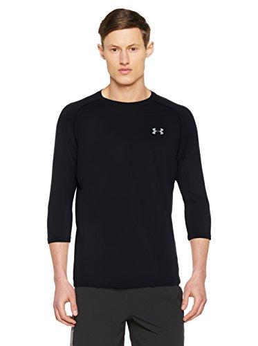 Under Armour Herren Tech Power Sleeve Kurzarmshirt, Black, LG (T-shirt Lg Sleeve)