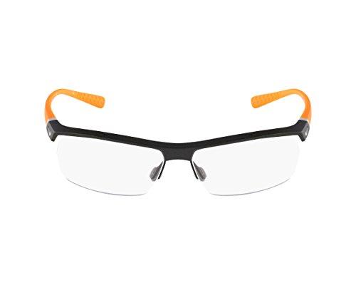 Nike Herren Brillengestelle 7071/2 075 57, Dark Grey/Orange