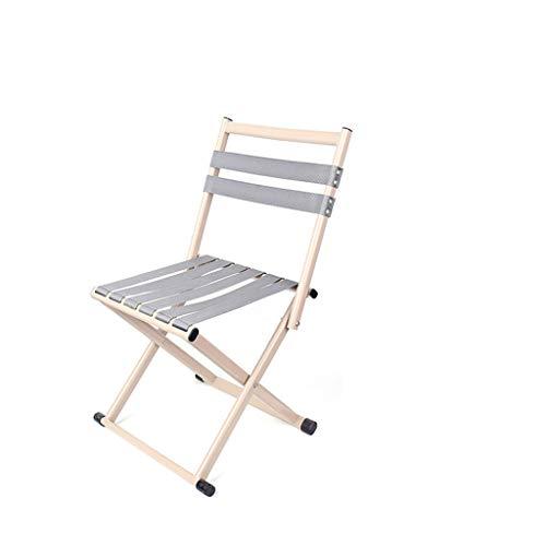 KTYXGKL Klappstuhl klappstuhl Mazar Falten tragbare Mini Outdoor verdickung zurück fischenstuhl hocker rückenlehne hocker 60x36x31cm Klappstuhl (Color : Beige) (Mini-falte-stuhl)