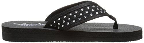 Skechers Cali Meditation-strass Flip Flop Black