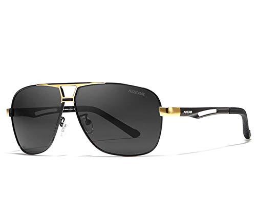 Fashion Sonnenbrillen Classic Aviator Sonnenbrille Sonnenschirm, Polarisierende Gläser 100% Gegen UV-Schwarz,Metallic