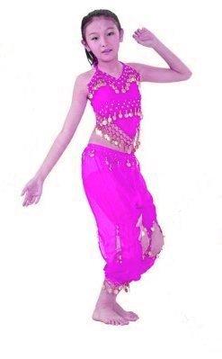 Danse Du Ventre Kinder Mädchen Bauchtanz Kostüm für Kinder Kleid bis Harem Pants Set
