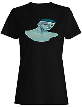 Novedad del retrato del hombre masculino gracioso camiseta de las mujeres a748f