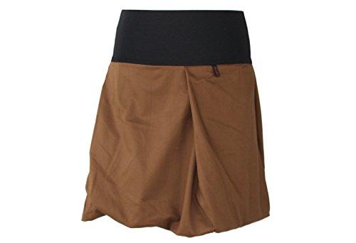 dunkle design Damen Ballonrock Jeansrock Jeans Farbe Midi oder Knielang nach Wahl Hellbraun