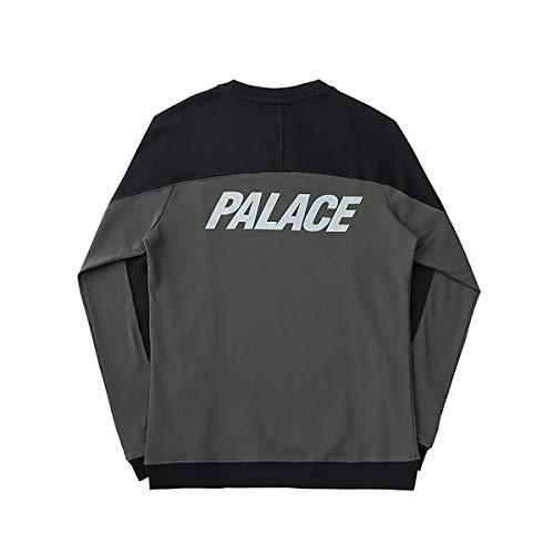 W&TT Unisex Manga Larga Patchwork Camiseta Palace
