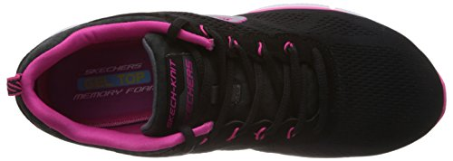 Skechers Equalizer New Milestone, Chaussures de sports en salle femme Noir (Bkhp)