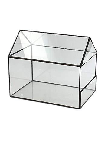 Humeng forma della casa terrario nero geometrica e qualità della casa vasi di vetro per l'arte serre vasi per catus schiuma piante grasse piante portagioie contenitore artigianato