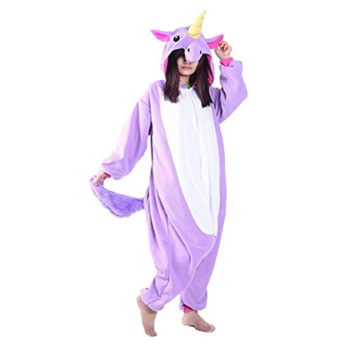 DUKUNKUN Halloween Pyjamas Adult Animal Nachtwäsche Set Stitch Panda Cartoon Kapuzenpyjamas Weihnachten Cartoon Party,S