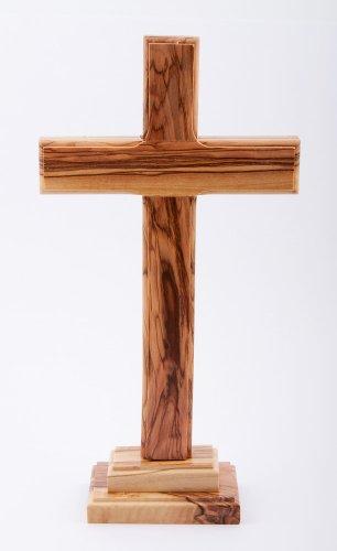 Holz Kreuz Kruzifix. 23cms Hoch. Holz groß Kreuz. stehend Kreuz aus Holz. Holz Kreuz von Jerusalem. Holz Kruzifix Kreuz.
