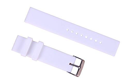 14mm Art und Weise weißer Gummiuhrenarmband rutschsicheren Silikon-Sport-Uhr-Armbänder für Frauen gerade Ende