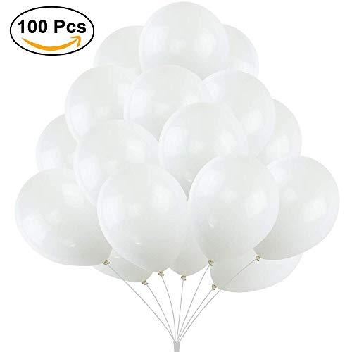 weiße Metallic-Latex-Luftballons, Sortiert, 8