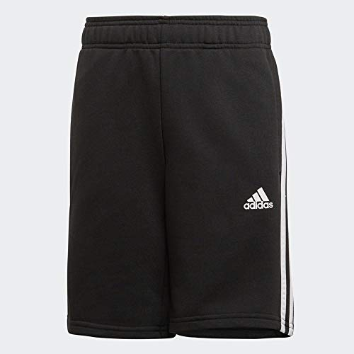 adidas Jungen Must Haves 3-Streifen Shorts, Black/White, 140 -