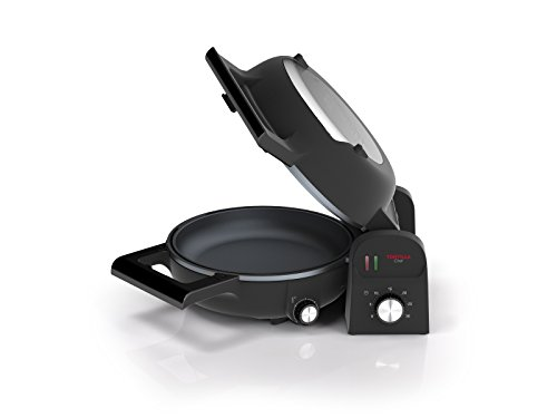 Princess Chef 118000 Tortilla, Doble Superficie de Cocción, Vuelta y Vuelta, 1300 W, Acero Inoxidable
