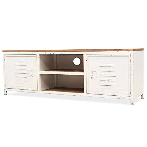 vidaXL TV Cabinet 120x30x40cm White Home Furniture HiFi Lowboard Stand Unit