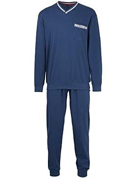 Götzburg Pyjama, V-Ausschn, Bündchen, Bóxer para Hombre