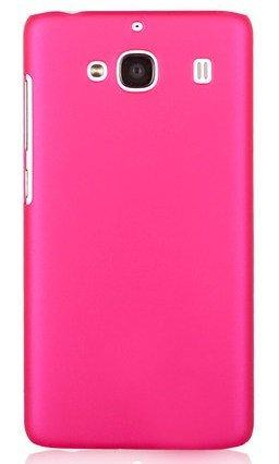 WOW Imagine(TM) Rubberised Matte Hard Case Back Cover For XIAOMI MI REDMI 2 / REDMI 2 PRIME (Pink)