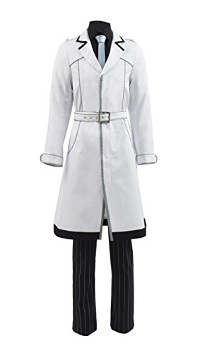 Yewei Manga Team Quinx Haise Kostüm Herren Halloween Mantel Hose Kostüm Outfit (Haise (Herren), M)