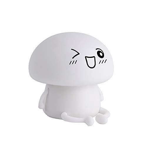 Creative-Usb-Silikon-Licht Kleiner Teufel Wei? Karikatur Nachttischlampe Kinderzimmer Kinderzimmer Lednightlight -