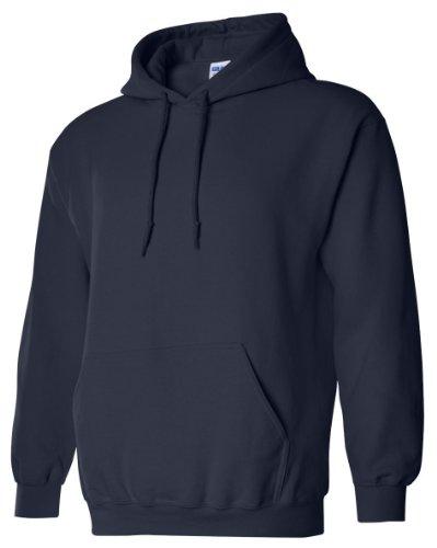 Gildan Men's Rib Knit Pouch Pocket Hooded Sweatshirt -