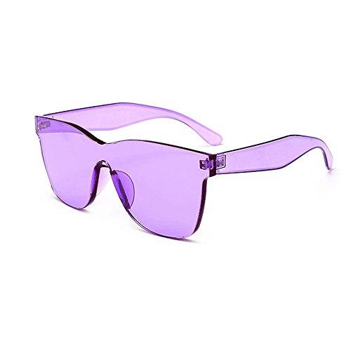NINGSANJIN Sonnenbrille Damenmode Heart-Shades Sonnenbrille Integrierte UV-Bonbonfarbene Brille PP