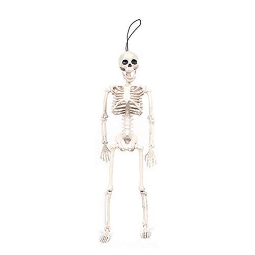 wyxhkj Halloween Horror Trick Spielzeug, Plastikskelett Schädelknochen Setzen Requisiten Dekoration (B)