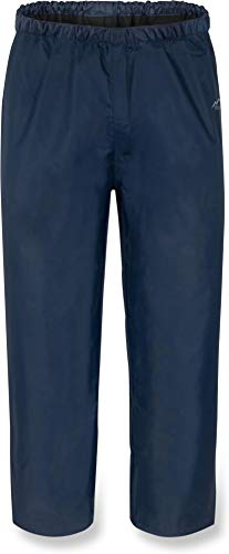 normani Kinder Regenhose Unisex für Jungen und Mädchen mit warmem, weichem Fleecefutter - Wassersäule 5000 mm Farbe Navy Größe L/146-152 -