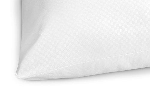 Savel - Lot de 2 oreillers en Fibre Anti-Acariens, extra Doux, fermeté Médium – 60x60cm image 2
