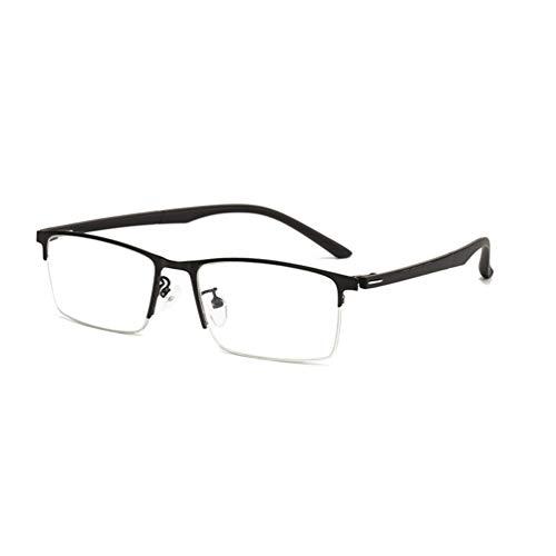 BSHOEMR Beobachten Sie Mobile Brillen,Entlastung der Augen vor Müdigkeit,Computer Lesen EyewearAnti-Blaue Lesebrille Metall-Halbrahmen TR Spiegelbeine,Glasses Anti Blue Light-C-1-+250degrees