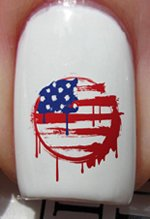 American Grunge Flag - Nail Decals by