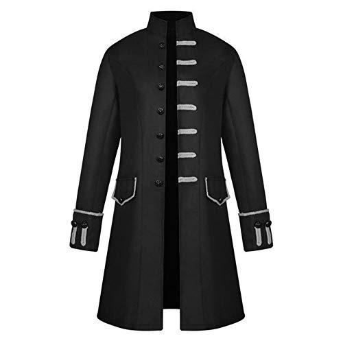 Piraten Viktorianischen Kostüm - Dihope Herren Gothic Jacke Viktorianisch Mantel Vintage Kostüm Mittellang Cosplay Uniform